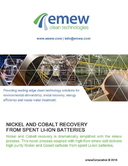 Nickel/Cobalt Recovery from Spent Li-ion Batteries Brochure