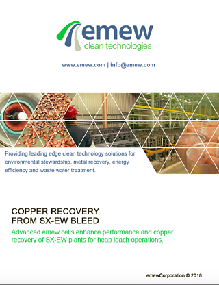 Copper Recovery from SX-EW Bleed | emewCorporation